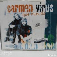 CDs de Música: CARMEN VIRUS / QUE MAS DA - CDSINGLE. Lote 237691745