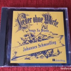CDs de Música: CD SONGS NO WORDS DE JOHANNES SCHMOELLING. Lote 237855050