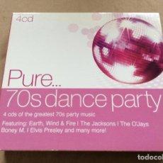 CDs de Música: PURE 70S DANCE PARTY - 4 CD BOX DIGIPACK. Lote 238194195