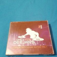 CDs de Música: OFERTA FLASH ONLY FOR DEEJAYS HOUSE & TECH-HOUSE EDITION VOL.1 2CDS PRECINTADO. Lote 203094303