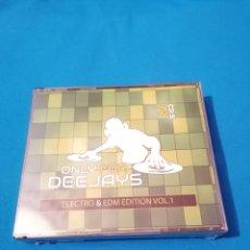 CDs de Música: OFERTA FLASH NAVIDAD ONLY FOR DEEJAYS ELECTRO & EDM EDITION VOL.1 2CD PRECINTADO. Lote 203303456