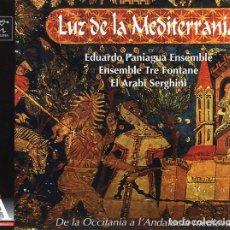 CDs de Música: EDUARDO PANIAGUA ENSEMBLE - LUZ DE LA MEDITERRANIA CD-DIGIPACK 1998 RARO. Lote 238479115