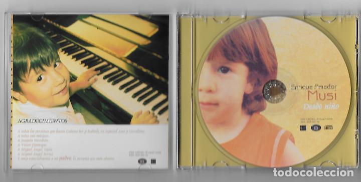 CDs de Música: ENRIQUE AMADOR MUSI CD ALBUM 2005 DESDE NIÑO FLAMENCO FUSION PIANO ARAGON RARO Y ESCASO BUEN ESTADO - Foto 2 - 238582475