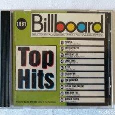 CDs de Música: BILLBOARD, TOP HITS, 1981, OLIVIA NEWTON-JOHN, BLONDIE, AIR SUPPLY, JUICE NEWTON, DOLLY PARTON. Lote 136033749