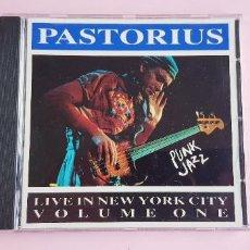CDs de Música: CD - JACO PASTORIUS - LIVE IN NEW YORK CITY - VOL 1 - BIG WORLD MUSIC - 1990. Lote 239497735
