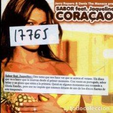 CDs de Musique: SABOR FEAT. JACQUELINE / CORAÇAO 4 VERSIONES (CD SINGLE CARTON 2004). Lote 239667035