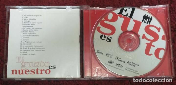 CDs de Música: EL GUSTO ES NUESTRO (ANA BELEN, VICTOR MANUEL, MIGUEL RIOS Y JOAN MANUEL SERRAT) CD 1996 - Foto 3 - 239668735
