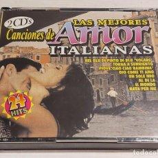 CDs de Música: LAS MEJORES CANCIONES DE AMOR ITALIANAS / DOBLE CD-BOX-EKIPO-1999 / 24 TEMAS / DE LUJO. Lote 239867630