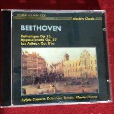 CDs de Música: MASTERS CLASSIC - BEETHOVEN - PATHETIQUE OP.13 - APPASSIONATA OP.57 LES ADIEUX OP.81 A - CD. Lote 240022445