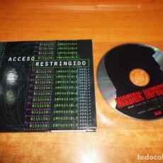 CDs de Música: ADAM CLAYTON & LARRY MULLEN MISSION IMPOSSIBLE U 2 U2 CD SINGLE PROMO ESPAÑA CANAL + RARO INVITACION. Lote 240085025