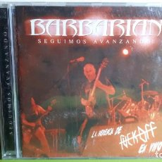 CDs de Música: BARBARIAN - SEGUIMOS AVANZANDO - LA HERENCIA DE FUCK OFF - EN VIVO - 2006 - COMPRA MÍNIMA 3 EUROS. Lote 240125345