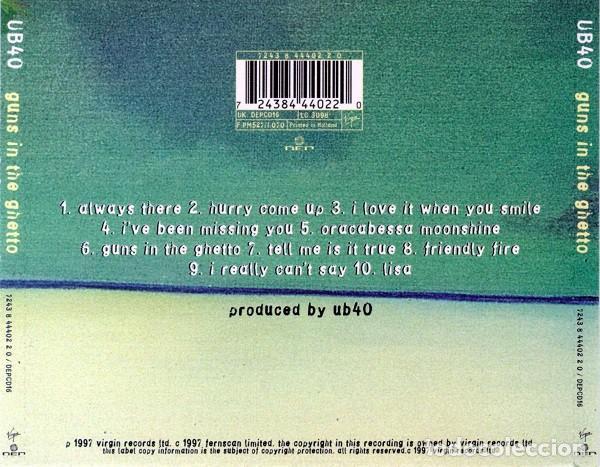 CDs de Música: UB40 - Guns in the Ghetto - Foto 2 - 240254015