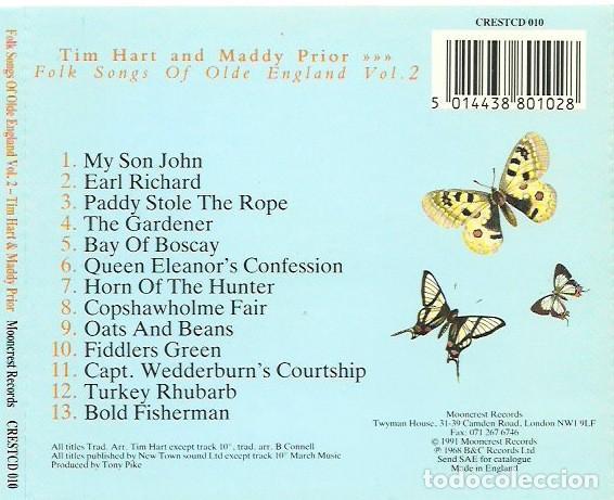 CDs de Música: Tim Hart & Maddy Prior - Folk Songs of Olde England Vol 2 - Foto 2 - 240259625