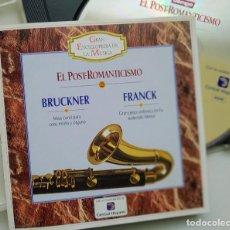 CDs de Música: CD BRUCKNER, FRANK, EL POST-ROMANTICISMO, 1995, GRAN ENCICLOPEDIA DE LA MÚSICA 22 (EX_EX). Lote 240407235