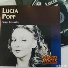 CDs de Música: LUCIA POPP, ARIAS FAVORITAS, ESPAÑA 1997, EMI CLASSICS – 01615 GRANDES VOCES,COMO NUEVO (NM_NM). Lote 240419570