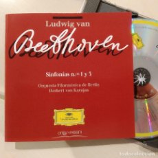 CDs de Música: BEETHOVEN, KARAJAN,SINFONÍAS 1 Y 3,1996,DEUTSCHE GRAMMOPHON/ORBIS FABBRI 449 5582-,COMO NUEVO(NM_NM). Lote 240421325