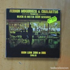 CDs de Música: FERMIN MUGURUZA & CHALART58 - BLAK IS BELTZA ASM SESSIONS - IRUN LION ZION IN DUB VOL II - CD. Lote 240431760