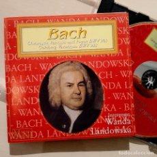 CDs de Música: BACH, WANDA LANDOWSKA, CHROMATIC FANTASIA AND FUGUE, GOLDBERG VARIATIONS, CEDAR (NM_NM). Lote 240434745