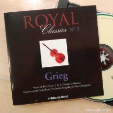 CDs de Música: GRIEG, ROYAL CLASSICS Nº3, PEER GYNT, DANZAS SINFÓNICAS, EL DÍA DEL MUNDO(NM_NM). Lote 240446675