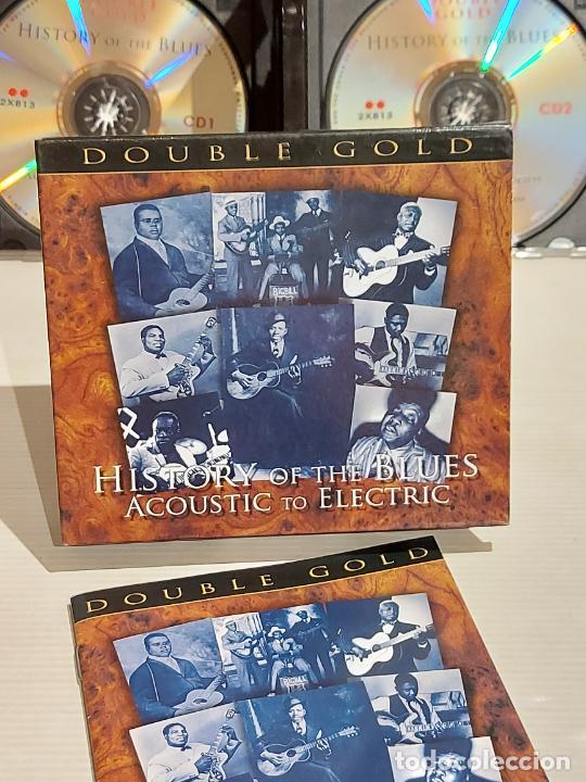 HISTORY OF THE BLUES / ACOUSTIC TO ELECTRIC / BOX-SET DOBLE CD / RETRO / 40 TEMAS / DE LUJO. (Música - CD's Jazz, Blues, Soul y Gospel)