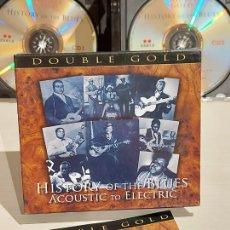 CDs de Música: HISTORY OF THE BLUES / ACOUSTIC TO ELECTRIC / BOX-SET DOBLE CD / RETRO / 40 TEMAS / DE LUJO.. Lote 240905025
