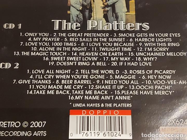 CDs de Música: THE PLATTERS / GREATEST HITS / BOX-SET DOBLE CD - RETRO / 36 TEMAS / DE LUJO. - Foto 2 - 240905745