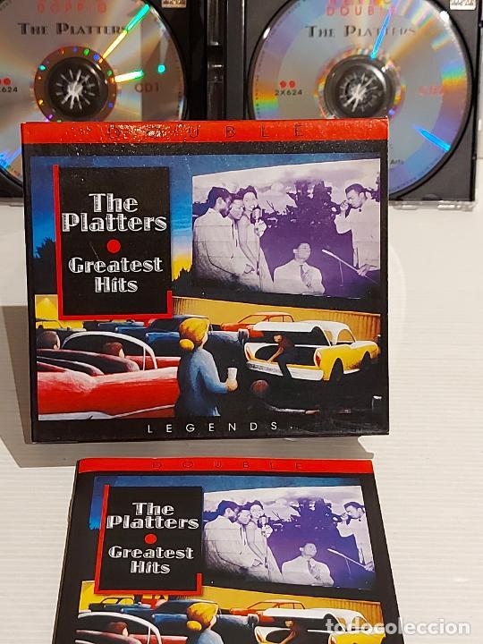 THE PLATTERS / GREATEST HITS / BOX-SET DOBLE CD - RETRO / 36 TEMAS / DE LUJO. (Música - CD's Jazz, Blues, Soul y Gospel)