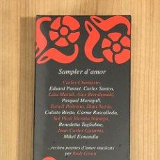 CDs de Música: SAMPLER D'AMOR LIBRO + CD - CARLES SANTOS, EDUARD PUNSET.... Lote 241137815