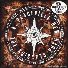 CDs de Música: PEACEVILLE NEW DARK CLASSICS 4 (CD RECOPILATORIO METAL HARD ROCK) CRADLE OF FILTH KATATONIA AUTOPSY. Lote 241192935