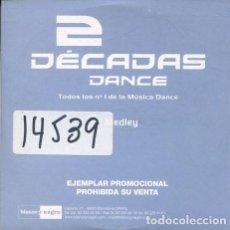 CD de Música: DECADAS DANCE / MEDLEY (CD SINGLE CARTON PROMO 2001). Lote 241401140