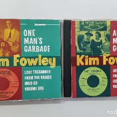 CDs de Música: KIM FOWLEY. LOST TREASURES FROM THE VAULTS 1959-1969. 2 CDS. ONE MAN'S GARBAGE & ANOTHER MAN'S GOLD. Lote 241500430