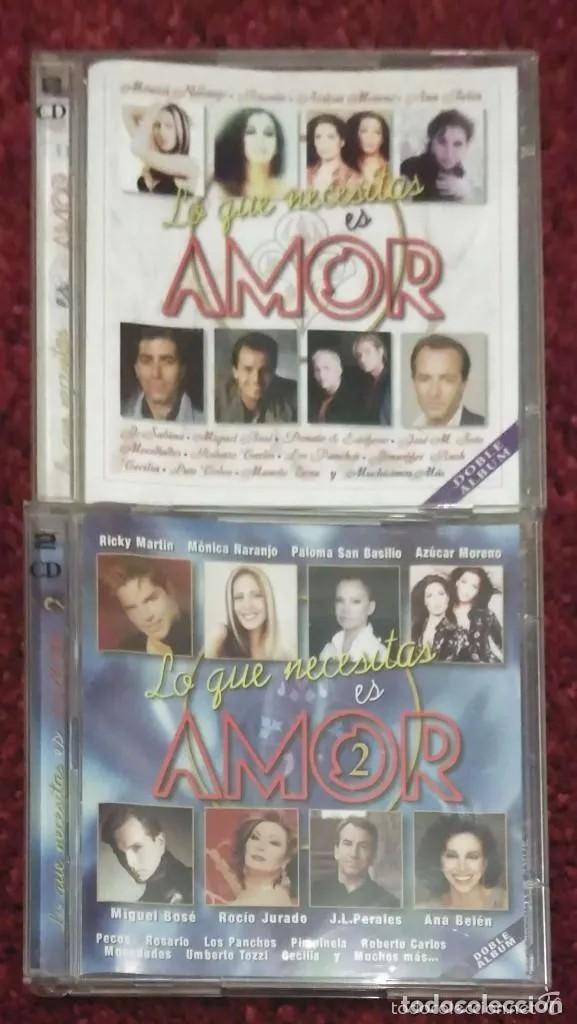 LO QUE NECESITAS ES AMOR VOL. 1 Y VOL. 2 - 4 CD'S (MONICA NARANJO, MIGUEL BOSE, MOCEDADES, SABINA..) (Música - CD's Pop)
