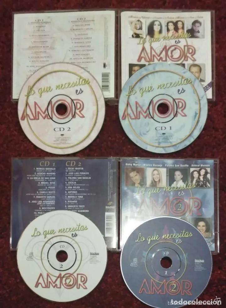 CDs de Música: LO QUE NECESITAS ES AMOR VOL. 1 Y VOL. 2 - 4 CDs (MONICA NARANJO, MIGUEL BOSE, MOCEDADES, SABINA..) - Foto 2 - 241529915