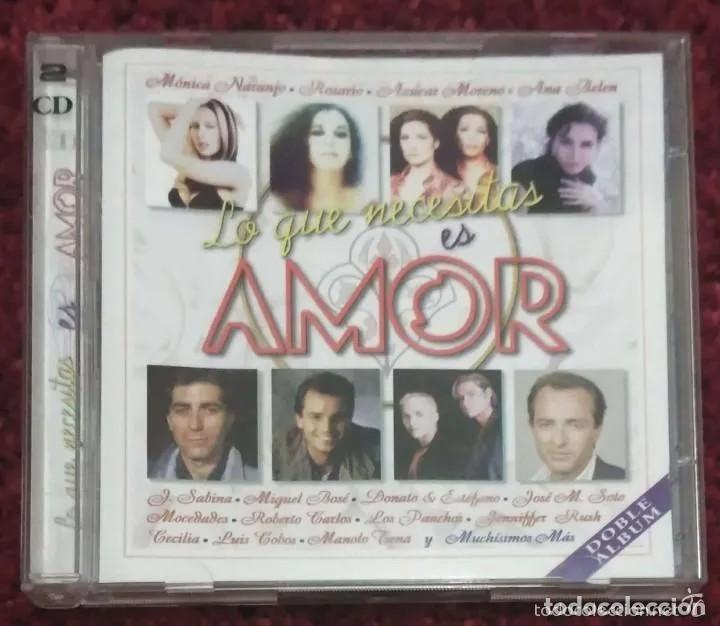 CDs de Música: LO QUE NECESITAS ES AMOR VOL. 1 Y VOL. 2 - 4 CDs (MONICA NARANJO, MIGUEL BOSE, MOCEDADES, SABINA..) - Foto 3 - 241529915