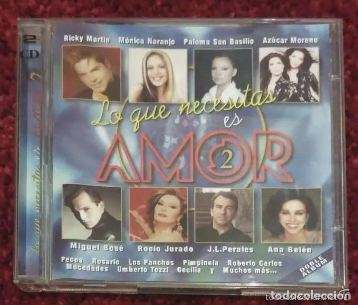 CDs de Música: LO QUE NECESITAS ES AMOR VOL. 1 Y VOL. 2 - 4 CDs (MONICA NARANJO, MIGUEL BOSE, MOCEDADES, SABINA..) - Foto 5 - 241529915