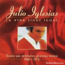 CDs de Música: JULIO IGLESIAS / LA VIDE SIGUE IGUAL . TODOS SUS PRIMEROS GRANDES EXITOS [1968-1976] 2 CD'S (1999). Lote 241548025