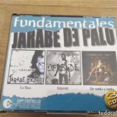 CDs de Música: JARABE DE PALO - FUNDAMENTALES - LA FLACA / DEPENDE / DE VUELTA Y VUELTA - 3 CD. Lote 241552285