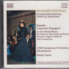 CDs de Música: SPANISH FESTIVAL CAPRICHO ESPAÑOL - CSR SYMPHONY ORCHESTRA KEITH CLARCK - CD. Lote 241668925