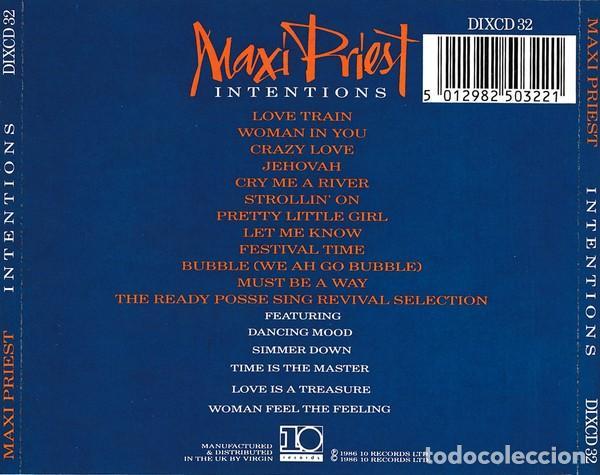 CDs de Música: Maxi Priest - Intentions - Foto 2 - 241778300