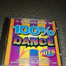 CDs de Música: CD 100 %DANCE HITS, 15 SUPER HITS OF THE 90. Lote 241969110