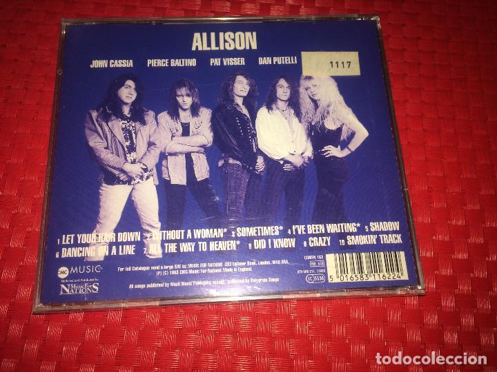 CDs de Música: ALLISON - ONE - AÑO 1993 - PRECINTADO - A ESTRENAR - Foto 2 - 241983255