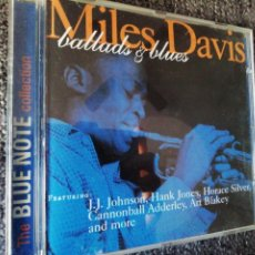 CDs de Música: MILES DAVIS. BALLADS AND BLUES.. Lote 242073105