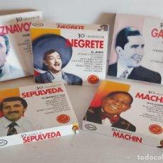 CDs de Música: IMPRESCINDIBLE !! SEPÚLVEDA-MACHÍN-NEGRETE-GARDEL-AZNAVOUR / 5 DOBLES CDS / 150 TEMAS / DE LUJO.. Lote 242245180