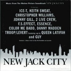 CDs de Música: NEW JACK CITY BSO (ICE-T, KEITH SWAET, QUEEN LATIFAH, ETC). Lote 242391020