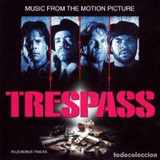 CDs de Música: TRESPASS BSO (ICE-T, ICE CUBE, PUBLIC ENEMY, BLACK SHEEP, ETC.). Lote 242391730