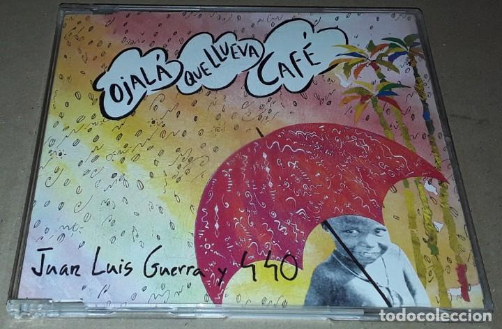 CD SINGLE - JUAN LUIS GUERRA Y 4.4O - OJALA QUE LLUEVA CAFE - RARO DE VER - JUAN LUIS GUERRA (Música - CD's Latina)