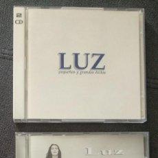 CDs de Música: LOTE CD - LUZ CASAL - PEQUEÑOS Y GRANDES ÉXITOS (1996 CD DOBLE) + UN MAR DE CONFIANZA (1999). Lote 242980000