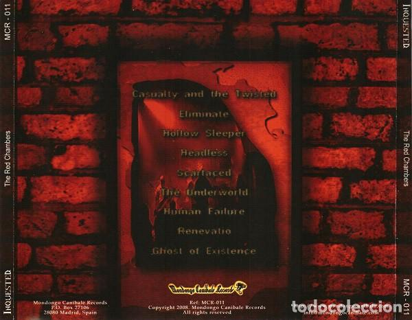 CDs de Música: INQUESTED - TUE RED CHAMBERS - Foto 2 - 243167310