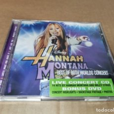 CDs de Música: HANNAH MONTANA BEST OF BOTH WORLDS CONCERT BANDA SONORA MILEY CYRUS CD + DVD 2008 14TEMA. Lote 243335125