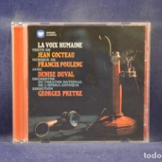 CD de Música: JEAN COCTEAU, POULENC, DUVAL, ORCHEST. DU THÉÂTRE L'OPÉRA-COMIQUE, PRÊTRE - LA VOIX HUMAINE - CD. Lote 243339920